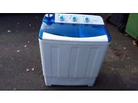 Portable Twin Tub Washing Machine with Drain Pump