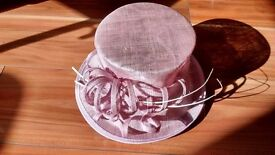 As new - beautiful, lavender/ pale pink wedding hat by Failsworth Millinery - stunning!