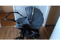 Baby Pram Buggy Stroller 3 in 1 Pushchair Car Seat