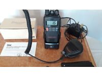 """ENTEL HT 644 inc. Speaker/Mic """"drop-in"""" charger, *Brand New Battery*"""
