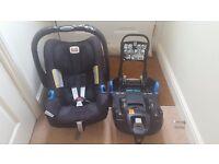 Britax SHR 2 car seat and isofix base
