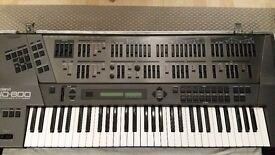 Roland JD800 Synthesizer incl flightcase