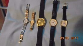 Job lot of mixed watches. Ladies & Gents. All work. REDUCED
