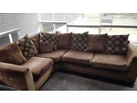 Brown lounge corner sofa-250 only.