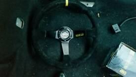 Ford fiesta mk6 racing wheel with omp boss hub