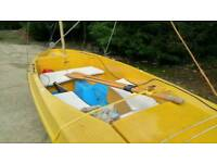 Sailing rowing boat Skipper with trailer