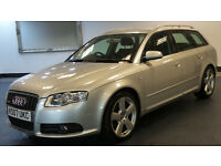 2007 07 AUDI A4 2.0 TDI QUATTRO S LINE DPF 5d 170 BHP, Timing Belt Changed, SAT NAV