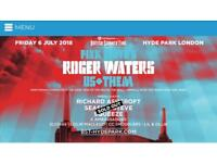 Roger Waters BST Hyde Park London Gold Circle Tickets x 3