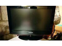 "22"" Samsung flatscreen TV and scart cable. No remote control."