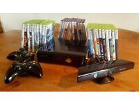 Xbox 360, kinect sensor & huge games bundle
