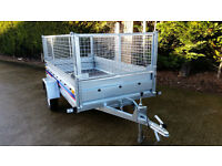 NEW SINGLE AXLE TRAILER + MESH CAR CAMPING TRAILER 750 kg 263cm x 133cm