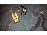 Motorbike or cycle locks . High quality JCB.
