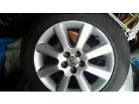 2 X ALLOYS TOYOTA AVENSIS 205/55/R16 USED