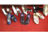 EIGHT PAIRS LADIES HEELED SHOES
