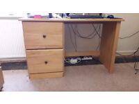 Two x 2 Drawer Desks Ready Assembled