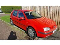 £600 ONO - VW GOLF 5 Door Hatchback - Red - 1998