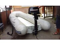 3 metre Rib with 5 hp outboard motor