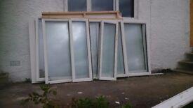 windows white upvc ,5 pieces different sizes