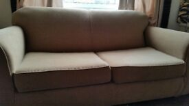 Next sand colour double sofa bed