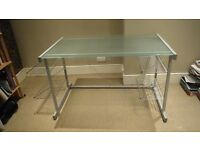 Glass topped desk from John Lewis