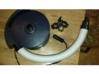 12v airpump bed and folding chair
