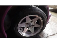 """classic mini starmag 12"""" wheels with tyres"""
