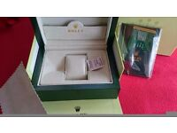 New Rolex wave box with accessories and retail bag! £30!