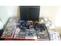 PS3 BUNDLE the ps3 is only 6 monyhs old..always kept it clean.. text me if interested Alberto.