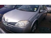 2003 NISSAN ALMERA, 1.8 PETROL, BREAKING FOR PARTS ONLY, POSTAGE AVAILABLE NATIONWIDE