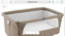 Chicco next to me cot bed. Perfect condition was £185 new. Will accept £100