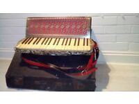 Vintage 1930's German Carlotti piano accordian with case Postage available