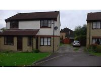 2 Bed Semi Detached House Newly Decorated Unfurnished £645.00 per month Available Dec 1st