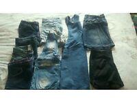 Girls denim shorts / skirt and dungarees