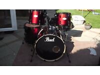 Pearl Vision 5 Piece Kit (drum shells and snare only)