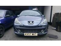 Peugeot 207 SE Grey 1.4 2007 5 Door Hatchback