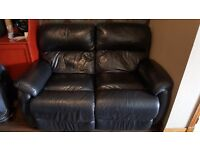 2-seater leather recliner sofa (Dfs)