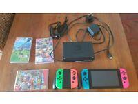 Nintendo Switch, Mario Odyssey, Zelda, Mario Kart, 4 Controllers