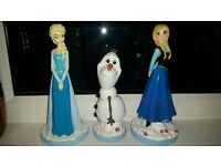 Frozen garden ornaments x3 gnomes elsa anna and olaf. 20 for 3