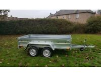 BRAND NEW 8.7x4.2 DOUBLE AXLE TRAILER- CAMPING TRAILER FLAT TIPPING