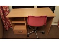 Small desk suitable for student, chair included