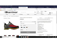 Karrimor Hot Route walking shoes size 10. WTX. weatherproof breathable.