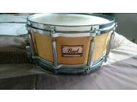 Pearl free floating snare drum - maple
