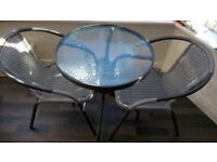 Bistro table and 2 chairs x 2