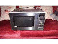 Microwave oven Panasonic stainless steel with grill - good condition