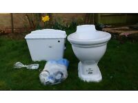 New toilet bowl, cistern and flush mechanism for sale