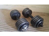 Cast Iron Dumbbell Set (12.5KG Each)