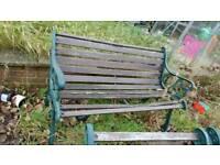 Beautiful cast iron base garden furniture