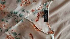 Wrap front satin maternity top from New Look size 12