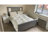 Ikea Hemnes double bed in grey