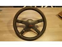 Rare VW Golf Jetta MK2 GTI 16v Leather Italvolanti Steering Wheel